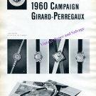 1960 Girard-Perregaux Watch Company Campaign Switzerland Swiss Suisse Schweiz