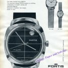 1960 Fortis True Line Watch Advert Vintage Swiss Print Ad Montres Fortis SA
