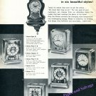 1960 Jaeger-LeCoultre Atmos Clock Advert Six Styles Vintage 1960 Swiss Print Ad