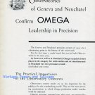 1956 Omega Watch Company Leadership in Precision Vintage 1950s Swiss Print Ad