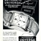 1948 Universal Automatic Watch Advert Universal Geneve Vintage Swiss Print Ad