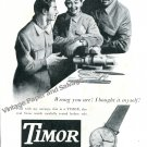 1948 Timor Watch Company Swizerland Vintage 1940s Swiss Print Ad Suisse Schweiz