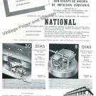 1948 National Watch Company National SA Switzerland Vintage 1940s Swiss Print Ad