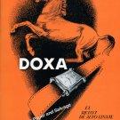 1948 Doxa Watch Company Switzerland Vintage 1940s Swiss Print Ad Suiza Suisse