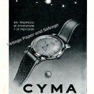 1948 Cyma Automatic Watch Advert Vintage 1940s Swiss Print Ad Switzerland Suisse