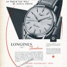 1959 Longines Jamboree Watch Advert Vintage 1950s Swiss Print Ad Switzerland