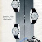 1959 Mondia Chambord Watch Advert Vintage 1950s Swiss Print Ad Switzerland