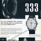 1959 Sandoz 333 Automatic Watch Advert Vintage 1950s Swiss Print Ad Henri Sandoz