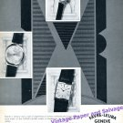 1960 Favre-Leuba Watch Company Geneve Switzerland Vintage Swiss Print Ad Suisse
