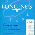 1960 Longines Watch Company On Our Honor Roll for 1960 Swiss Print Ad Suisse