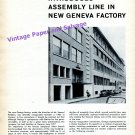 1960 Omega Watch Company Introduces Assembly Line in New Geneva Factory