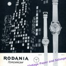 1960 Rodania Watch Company Tomorrow Vintage Swiss Print Ad Grenchen Switzerland