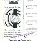 1957 Jaeger-LeCoultre Futurematic Watch Advert Vintage 1950s Swiss Print Ad