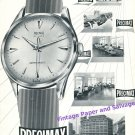 1957 Precimax Watch Company Switzerland Vintage 1950s Swiss Print Ad Suisse