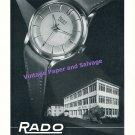 1957 Rado Watch Company Schlup & Co Switzerland Vintage 1950s Swiss Print Ad
