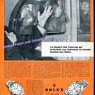 1957 Rolex Oyster Perpetual Watch Advert Vintage 1950s Swiss Print Ad Suisse