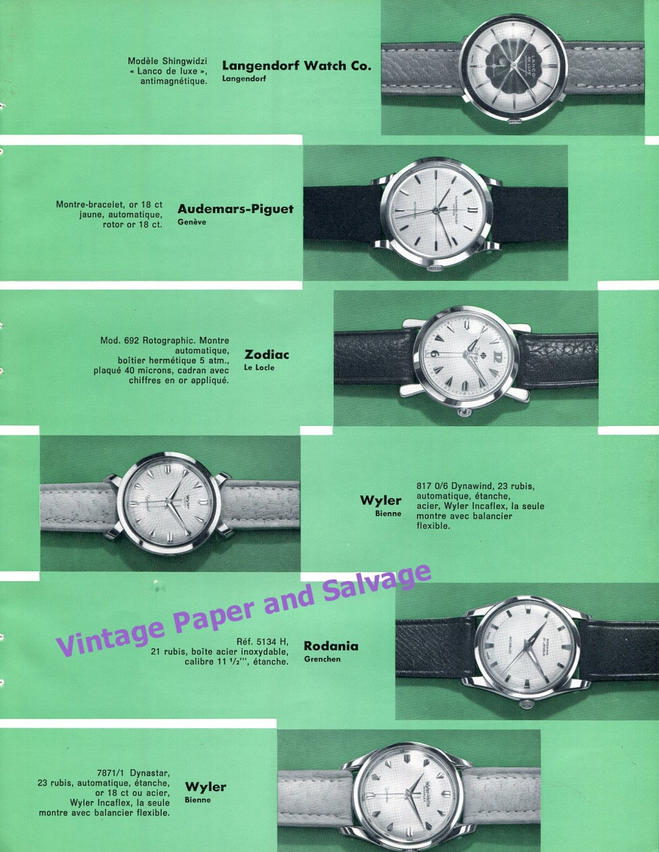 1957 Swiss Watch Fair Omega Breitling Universal Geneve Jaeger-LeCoultre Zodiac
