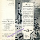 1955 Ulysse Nardin Watch Company Mastery on the High Seas Vintage Swiss Print Ad