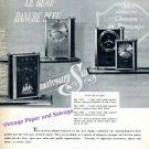 1955 Jaeger-LeCoultre Jaeger Musical Alarm Clock Advert Vintage Swiss Print Ad