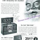 1949 Zenith Trans-Oceanic Radio 1940s Print Ad Advertisement Zenith Zenette