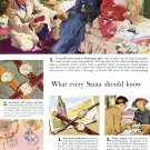 1949 Watchmakers of Switzerland What Every Santa Should Know Vintage  1940s Print Ad