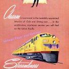 1949 Union Pacific Railroad Streamliners Train Los Angeles San Francisco Portland 1940s Print Ad