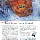 1949 Union Carbide and Carbon Corporation Prestone Antifreeze 1940s Print Ad