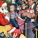 1949 Plymouth Automobiles My Daddy's Been a Good Boy Too Santa 1940s Christmas Print Ad