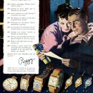 1949 Hamilton Watch Company The Watch of Railroad Accuracy 1940s Print Ad Advert