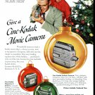 1949 Cine-Kodak The Best Days of Your Life Live Again 1940s Print Ad Advertisement