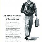 1949 Bell Telephone System He Brings an Armload of Courtesy, Too Vintage 1940s Print Ad