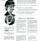 1944 Zenith Radio Corporation Hearing Aid You Owe It to Uncle Sam 1940s Print Ad