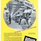 1944 Rohr Aircraft Corporation Aviation 5000 Steps to Berlin WWII WW2 Print Ad