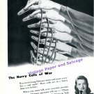1944 Bell Telephone The Hurry Calls of War WWII WW2 World War 2 Vintage 1940s Print Ad