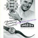 Vintage 1945 Angelus Naveo Clock Advert Stolz Freres SA Swiss Print Ad Publicite Suisse Schweiz