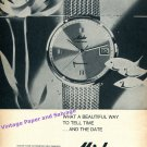1964 Mido Ocean Star Powerwind Watch Advert Vintage 1960s Swiss Print Ad Suisse