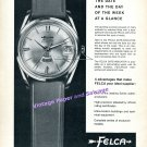 1964 Felca Airmaster Rotomatic Watch Advert Vintage Swiss Print Ad Switzerland