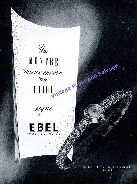 1951 Ebel Watch Company Fabrique Ebel SA Switzerland Vintage Swiss Print Ad