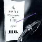 1951 Ebel Watch Company Fabrique Ebel SA Switzerland Vintage Swiss Print Ad