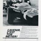 1969 Jo Siffert Formula 1 Racecar Driver Ebauches SA Vintage Swiss Print Ad