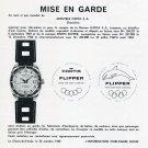 1969 Fortis Flipper Watch Advert Mise en Garde Montres Fortis SA Swiss Print Ad