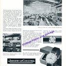 1957 Jaeger LeCoultre Switzerland Svenska Metallverken Vintage Swiss Print Ad