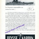 1957 Ulysse Nardin Watch Company Chronometre de Marine Vintage Swiss Print Ad