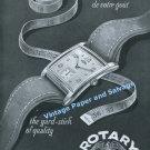 1948 Rotary Watch Company Switzerland The Yard Stick of Quality Swiss Print Ad