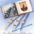 1948 Buren Watch Company Buren SA Switzerland Vintage 1940s Swiss Print Ad