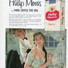 1956 Philip Morris Cigarettes Made Gentle For You Fresh Unfiltered Flavor 1950s Print Ad Advert