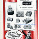 1956 Armour Star Meat Products Step Right Up Circus Ad Ham Bacon Hot Dogs 1950s Print Ad Advert