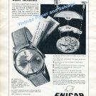 1961 Enicar Supertest Automatic Watch Advert Enicar Watch Factory Swiss Print Ad