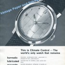 1961 Glycine Vacuum Watch Advert Glycine Watch Factory Switzerland Swiss Print Ad