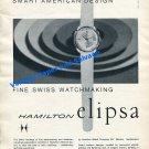 1961 Hamilton Elipsa Watch Advert Hamilton Watch Company Switzerland Swiss Print Ad